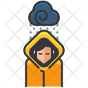 Raining Raincoat Protection Icon