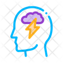Raining Lightning Cloud Icon