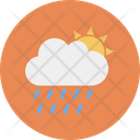 Sun Cloud Rain Icon