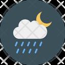 Moon Cloud Rain Icon