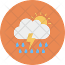 Sun Cloud Thunder Icon