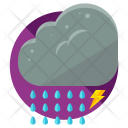 Lightening Rain Storm Icon
