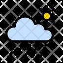Raining Cloud Sun Icon