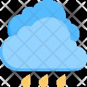 Rain Cloud Raindrops Icon