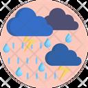 Raining Rain Lightining Icon