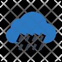 Raining Cloud Drops Icon