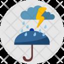 Raining Umbrella Weather Icon