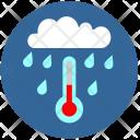 Cloud Tempearature Rain Icon