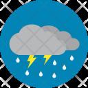 Thunderstorm Night Rain Icon