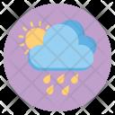 Raining Sun Cloud Icon