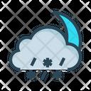 Raining Snowfalling Cloud Icon