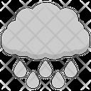 Rain Cloud Raindrops Rainy Weather Icon