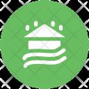 Raining Flood House Icon
