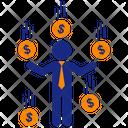 Raining Money Icon