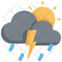 Cloud Sun Climate Icon