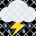 Rain Storm Lightning Icon