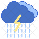 Rainstorm Rain Storm Lightning Icon