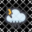 Rainstorm Cloud Raining Night Rain Icon