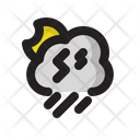 Cloud Storm Night Icon