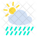 Rain Cloud Sun Icon