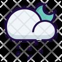 Cloudy Night Rainy Icon