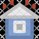 Rainy House Home Icon
