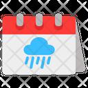 Rainy Rainy Weather Calendar Rainy Season Calendar Icon