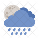 Moon Shower Cloud Icon