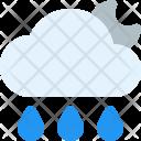 Rainy Night Cloud Icon