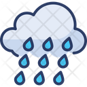 Rainy Cloud Rain Wet Icon