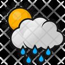 Rainy Clouds Raining Rain Icon