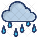 Rainy Day Raincloud Nature Icon