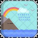 Rainy Landscape Rainy Rainbow Icon