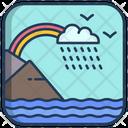 Rainy Landscape Icon
