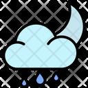 Rainy Night Forecast Night Icon