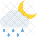 Night Raining Cloud Icon