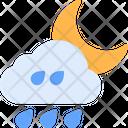 Rainy Night Weather Rainy Icon