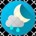 Rainy Night Rainfall Rain Icon