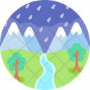 Rainy Season Forest Trees Icon