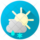 Rainy Snowy Day Rain Snow Icon