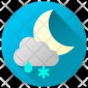 Rainy Snowy Night Icon