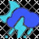 Rainy Storm Night Weather Cloud Icon