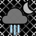 Weather Rainy Night Icon