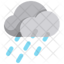 Rainy Weather Rain Raining Icon
