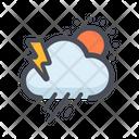 Rainy Weather Drizzling Cloud Raining Icon