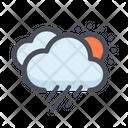 Rainy Weather Cloud Raining Night Rain Icon