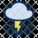 Rainy With Storm Icon