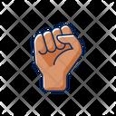 Raised Protest Palms Icon