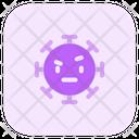 Raised Eyebrow Coronavirus Emoji Coronavirus Icon