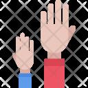 Raised Hands Icon